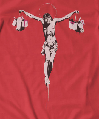 Banksy Crucifixion t shirt all colours all sizes