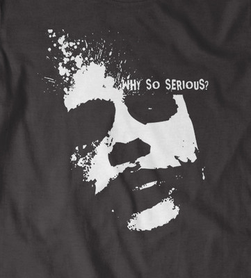 Batman, Joker heath ledger 'Why So Serious?' t-shirt in Black