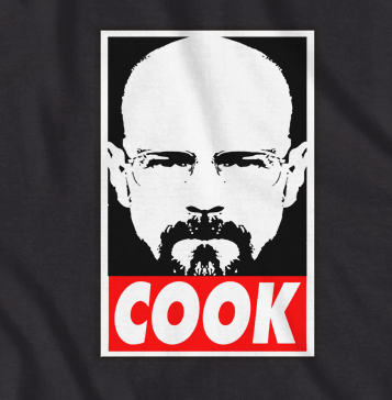 cook breaking bad tv show walter tshirt