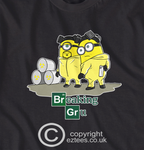 Gun T Shirts >> Despicable Me Minions Breaking Gru Breaking Bad style funny t-shirt