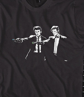 Dr Fiction, Pulp fiction, from DR Who Joke t-shirt
