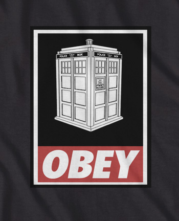 DR Who Tardis Obey t-shirt