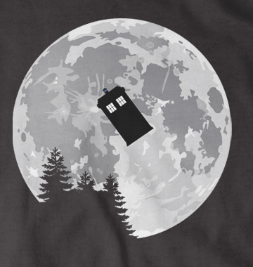 Full Moon Tardis Dr Who Style t-shirt