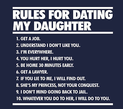 rules for dating my daughter military shirt