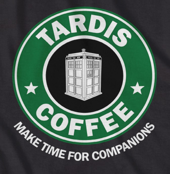 Tardis Coffee 'make time for companions' t-shirt
