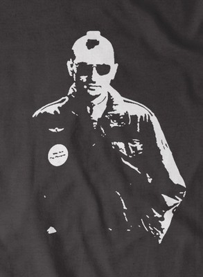 The Taxi driver 'Travis Bickle' t-shirt in Black & Red