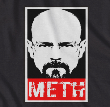 . Breaking bad Walter white Obey style 'METH' t-shirt