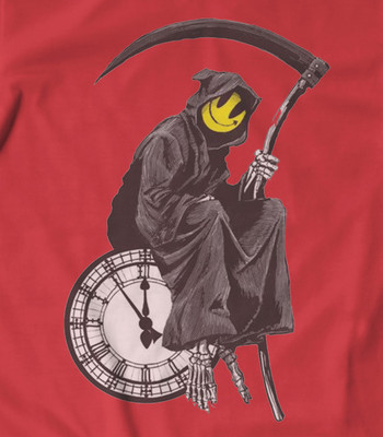 Banksy grim reaper t shirt all colours all sizes