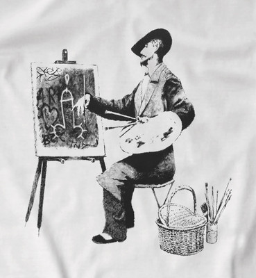 "Banksy ""Street artist"" t shirt in white only"