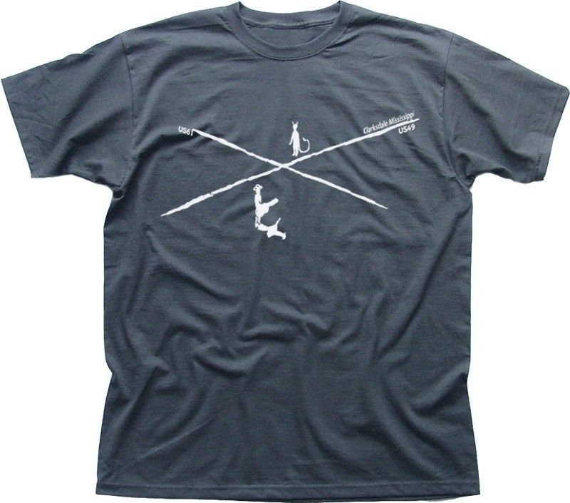 Crossroads Blues T Grey Vai Satriani Robert Johnson Shirt Clapton HE92ID