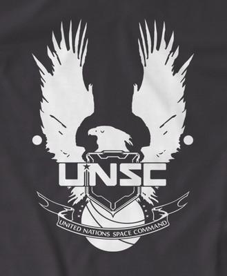 Halo 4 UNSC 'United Nations Space Command' Gamer t-shirt