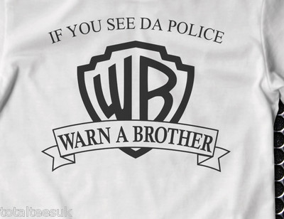 c5e5c679cab4 If you see the police warn a brother warner brothers t shirt